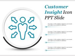 Customer Insight Icon Ppt Slide