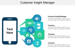 Customer Insight Manager Ppt Powerpoint Presentation Slides Outline Cpb