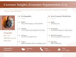 Customer Insights Customer Segmentation Education Ppt Layouts Ideas
