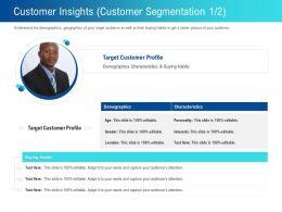 Customer Insights Customer Segmentation L2251 Ppt Powerpoint Presentation Graphics