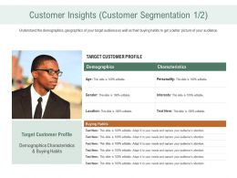 Customer Insights Customer Segmentation Profile Ppt Background