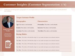 Customer Insights Customer Segmentation Profile Ppt Guide