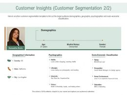 Customer Insights Customer Segmentation Psychographics Ppt Download