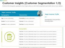 Customer Insights Customer Segmentation Target Ppt Show Icon