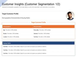 Customer Insights Demographics Ppt Powerpoint Presentation File Microsoft