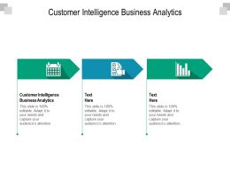 Customer Intelligence Business Analytics Ppt Powerpoint Presentation Inspiration Cpb
