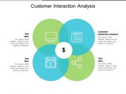 Customer Interaction Analysis Ppt Powerpoint Presentation Portfolio Graphics Template Cpb