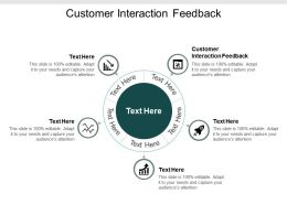 Customer Interaction Feedback Ppt Powerpoint Presentation Gallery Format Cpb