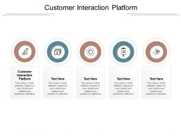 Customer Interaction Platform Ppt Powerpoint Presentation Professional Visual Aids Cpb