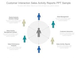 Customer Interaction Sales Activity Reports Ppt Samples