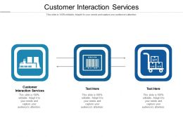 Customer Interaction Services Ppt Powerpoint Presentation Styles Format Cpb