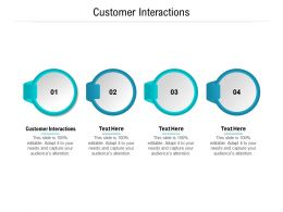 Customer Interactions Ppt Powerpoint Presentation Outline Smartart Cpb