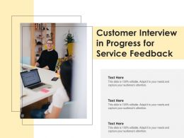 Customer Interview In Progress For Service Feedback