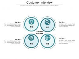 Customer Interview Ppt Powerpoint Presentation Icon Infographics Cpb