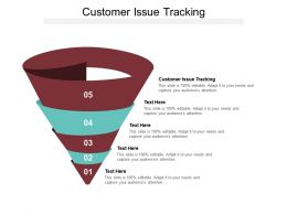 Customer Issue Tracking Ppt Powerpoint Presentation Slides Graphics Template Cpb
