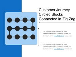 Customer Journey Circled Blocks Connected In Zig Zag
