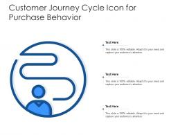 Customer Journey Cycle Icon For Purchase Behavior