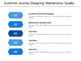 Customer Journey Designing Maintenance Quality Index Maintenance Backlog