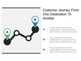 Customer Journey From One Destination To Another