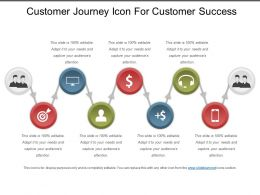 Customer Journey Icon For Customer Success Ppt Slide