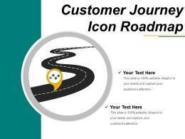 Customer Journey Icon Roadmap PPT Slide Template