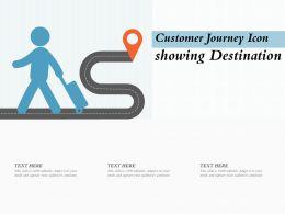 Customer Journey Icon Showing Destination