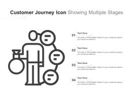 Customer Journey Icon Showing Multiple Stages