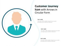 Customer Journey Icon With Arrows In Circular Form
