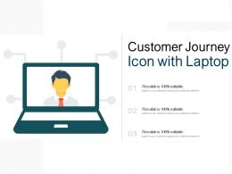 Customer Journey Icon With Laptop