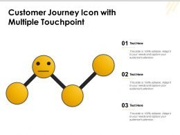 Customer Journey Icon With Multiple Touchpoint