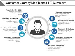 Customer Journey Map Icons Ppt Summary