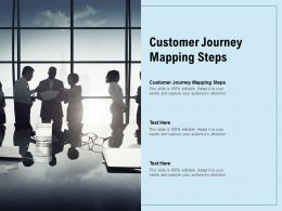 Customer Journey Mapping Steps Ppt Powerpoint Presentation Gallery Slides Cpb