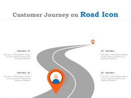 Customer Journey On Road Icon