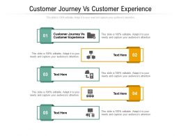 Customer Journey Vs Customer Experience Ppt Powerpoint Presentation Professional Cpb