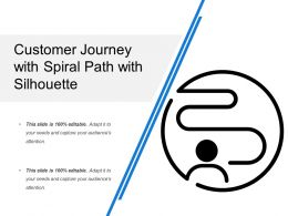 Customer Journey With Spiral Path With Silhouette