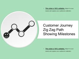 Customer Journey Zig Zag Path Showing Milestones