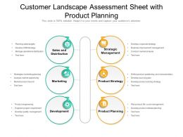 Customer Landscape Assessment Sheet With Product Planning