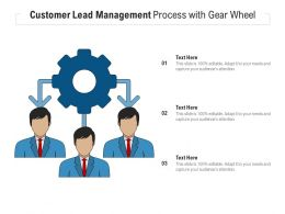 Customer Lead Management Process With Gear Wheel