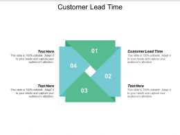 Customer Lead Time Ppt Powerpoint Presentation Gallery Background Images Cpb
