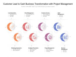 Customer Lead To Cash Business Transformation With Project Management