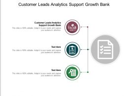Customer Leads Analytics Support Growth Bank Ppt Powerpoint Presentation Model Graphic Images Cpb