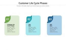 Customer Life Cycle Phases Ppt Powerpoint Presentation Summary Cpb