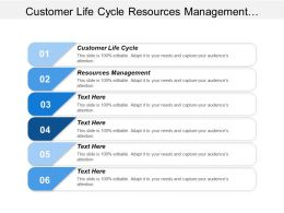 Customer Life Cycle Resources Management Manufacturing Flow Management