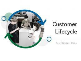 Customer Lifecycle Framework Marketing Directional Arrows Awareness Measure Performance