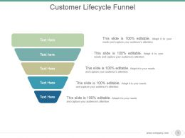Customer Lifecycle Funnel Powerpoint Slide Backgrounds