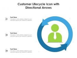 Customer Lifecycle Icon With Directional Arrows