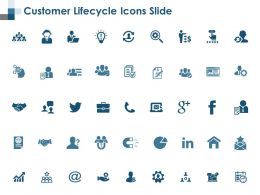 Customer Lifecycle Icons Slide Ppt Powerpoint Presentation File Files