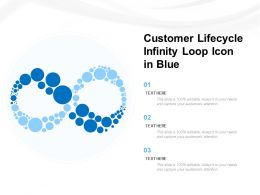 Customer Lifecycle Infinity Loop Icon In Blue