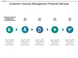 Customer Lifecycle Management Financial Services Ppt Powerpoint Presentation Outline Slide Download Cpb