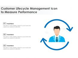Customer Lifecycle Management Icon To Measure Performance